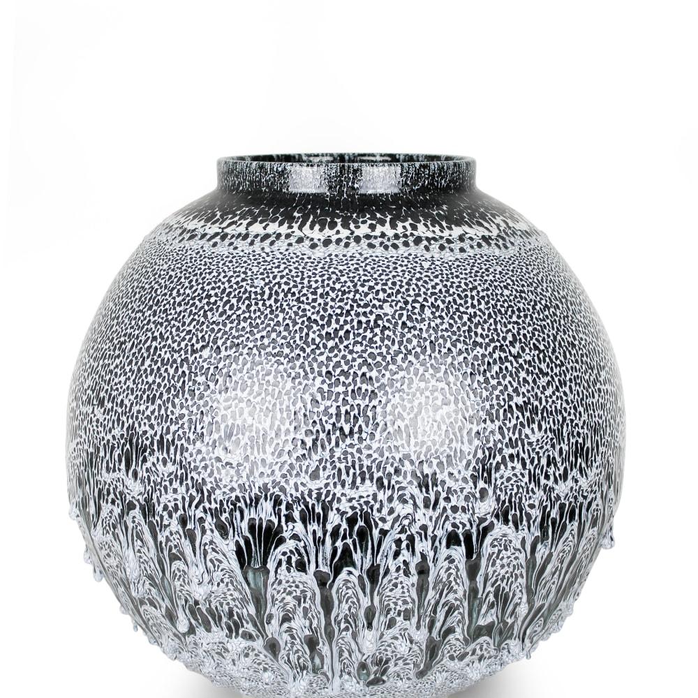 Albert Montserrat  Winter Jar, 2019  Thrown and Glazed Porcelain  49 x 51 x 51 cm  19 1/4 x 20 1/8 x 20 1/8 in.
