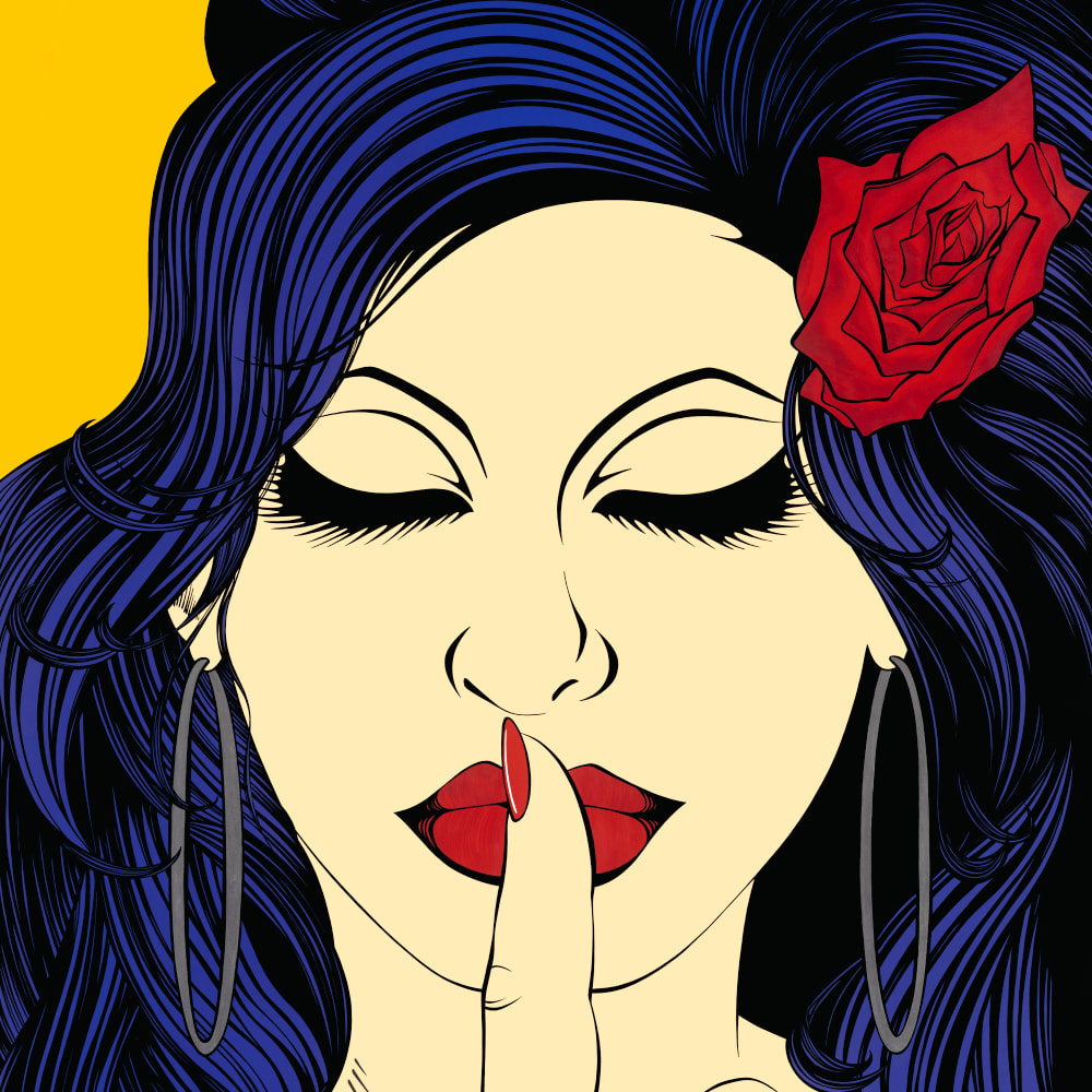 Deborah Azzopardi  Love is the Answer..., 2016  Limited Edition Silk-Screenprint with Platinum Leaf  121 x 87 cm 47 5/8 x 34 1/4 in.  Edition of 15
