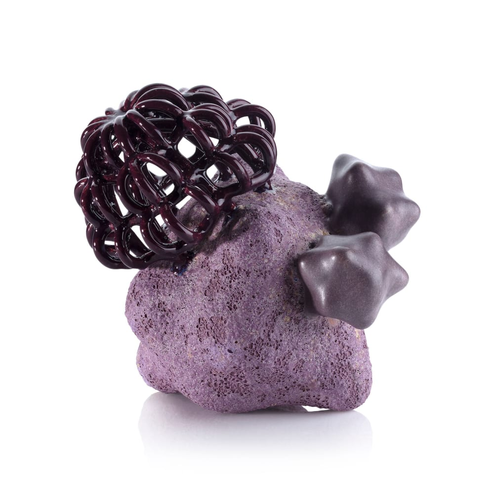 Tessa Eastman  Purple Rocket Baby Cloud Bundle, 2020  Multiple Glazed Stoneware  16 x 16 x 18 cm  6 1/4 x 6 1/4 x 7 1/8 in.