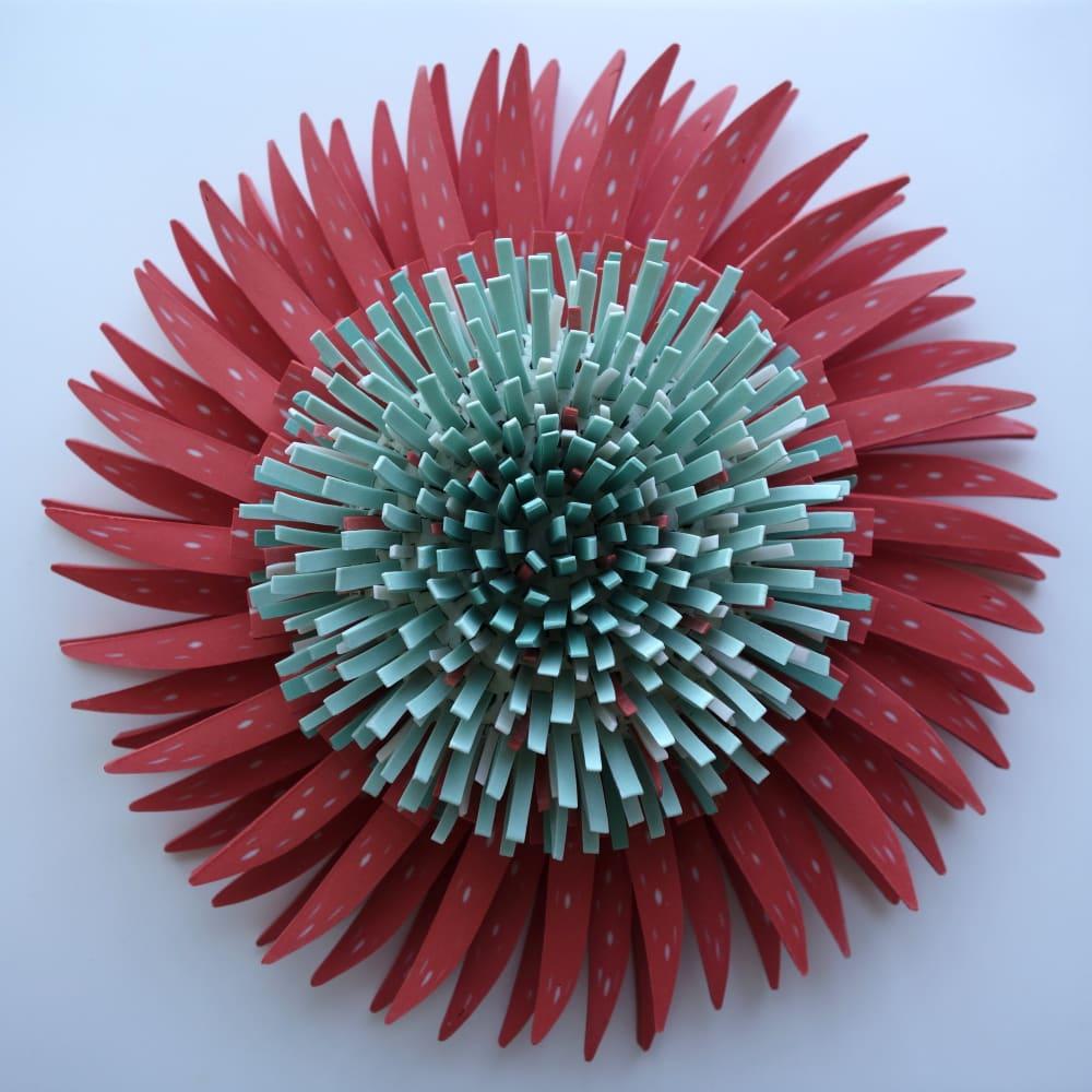 Zemer Peled  Flower Power 2, 2018  Porcelain shards, fired clay  15.2 x 25.4 x 25.4 cm  6 x 10 x 10 in.