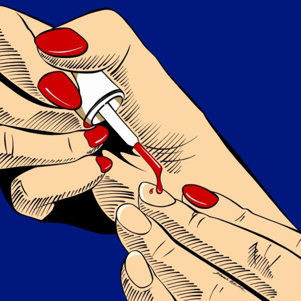 Deborah Azzopardi  Femme Fatale, 2016  20% from the sales of this artwork will be donated to BFAMI  Acrylic on 400g Arches Paper  66 x 79 cm 26 x 31 1/8 in.