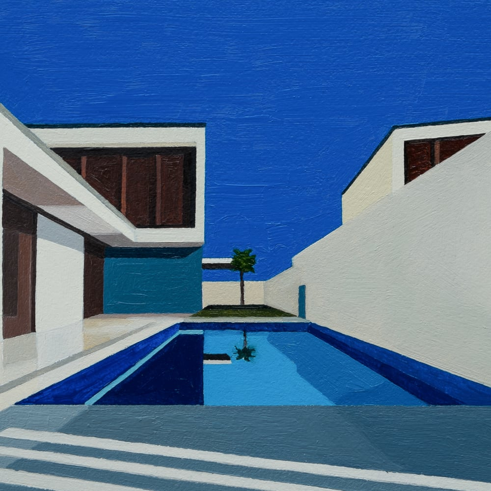 Andy Burgess  Mediterranean Modern II, 2016  Oil on Panel  15.2 x 20.3 cm  6 x 8 in.