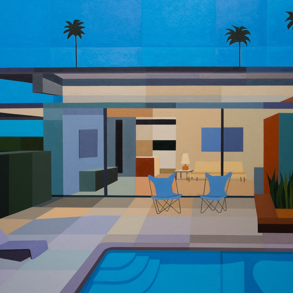 Andy Burgess  Wexler Steel House IV, 2015  Oil on Canvas  152.4 x 203.2 cm 60 x 80 in.
