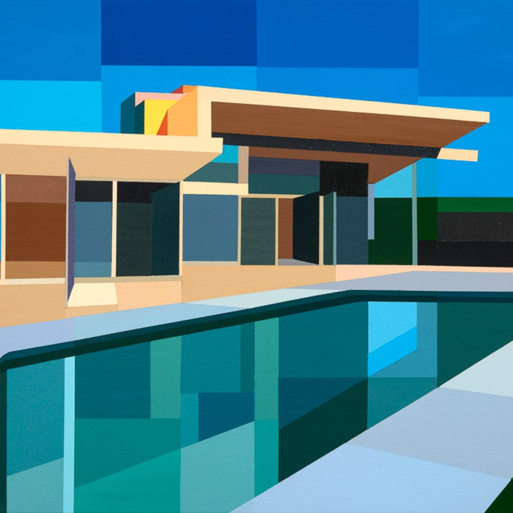 Andy Burgess  Color House, 2017  Acrylic on Canvas  61 x 86.4 cm  24 x 34 in.
