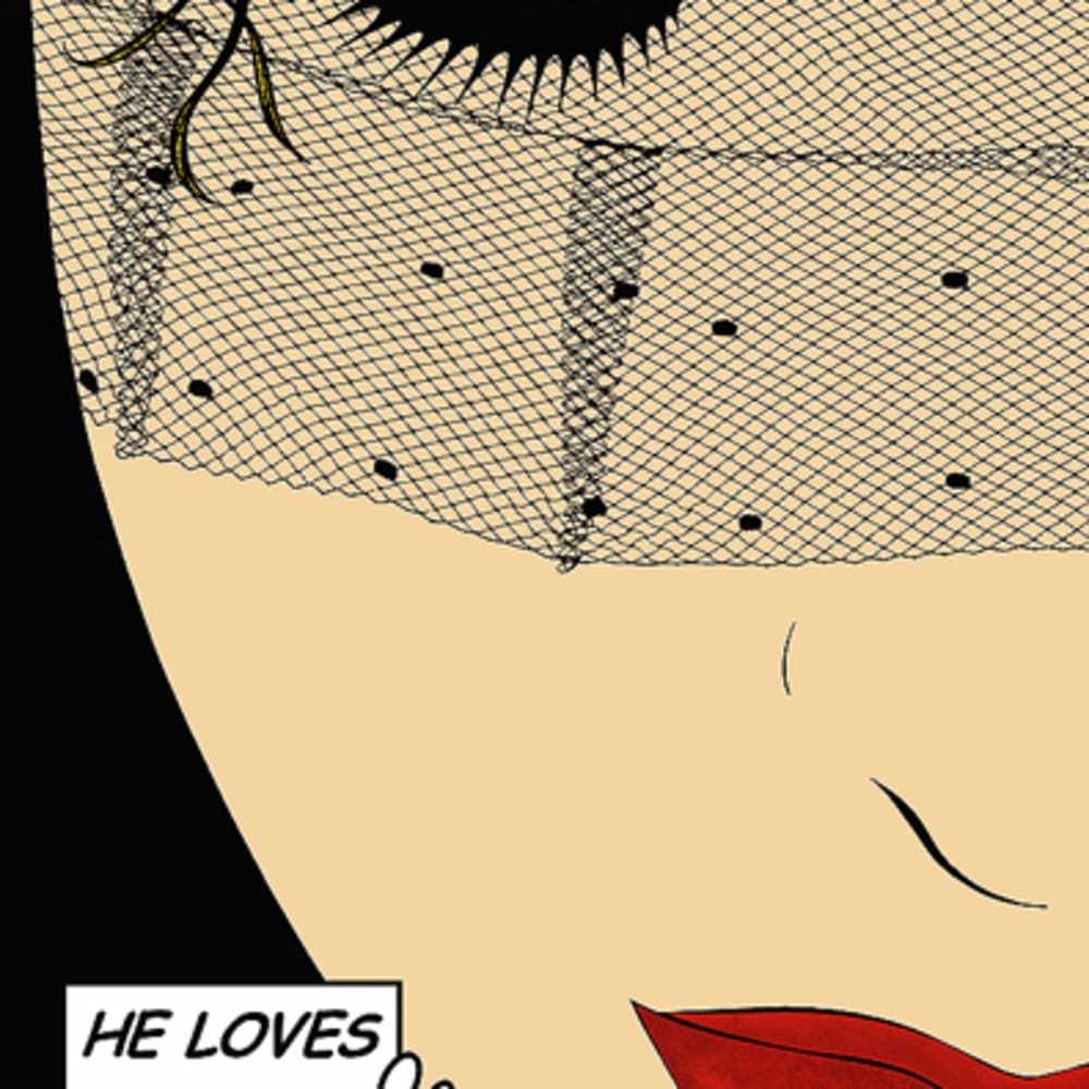 Deborah Azzopardi  He Loves Me, 2010  Acrylic on Board  84.1 x 59.9 cm 33 1/8 x 23 5/8 in.