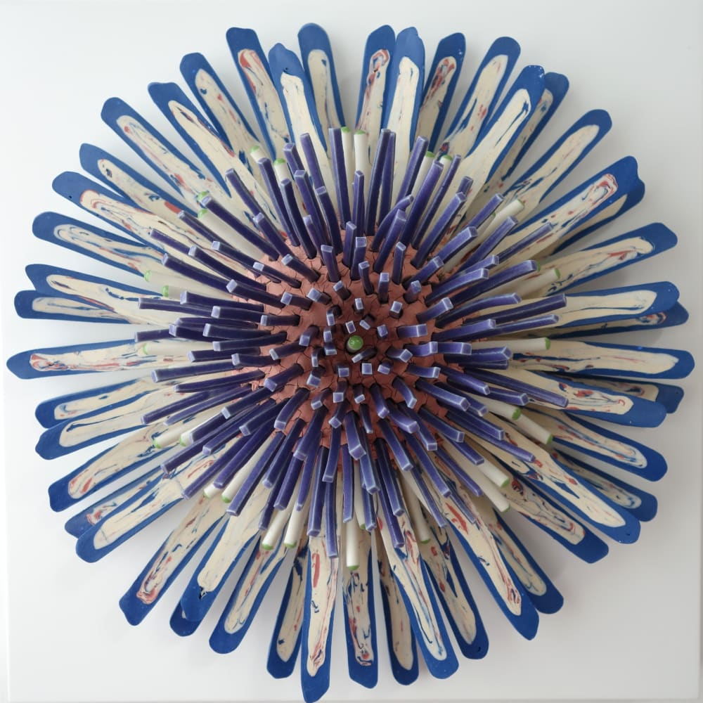 Zemer Peled  Flower Power 5, 2017  Porcelain  25.4 x 25.4 x 12.7 cm  10 x 10 x 5 in.
