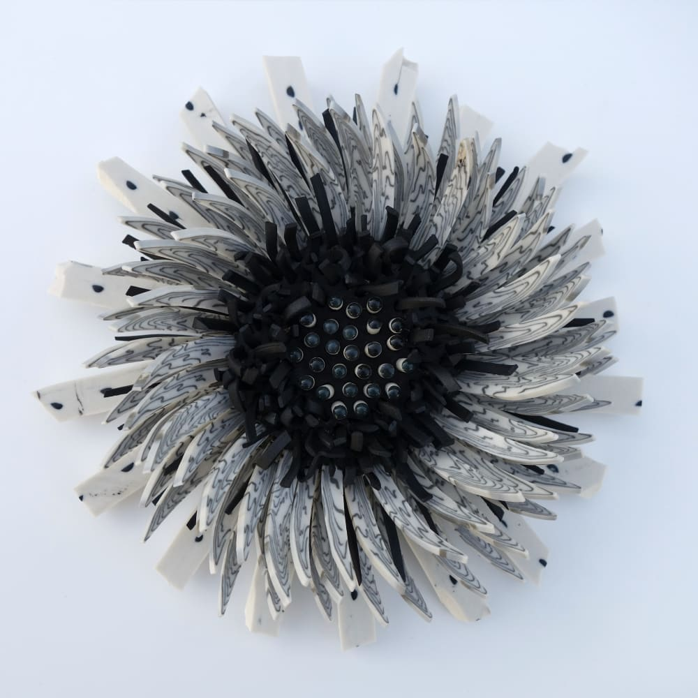 Zemer Peled  Flower Power 10, 2017  Porcelain  25.4 x 25.4 x 12.7 cm  10 x 10 x 5 in.