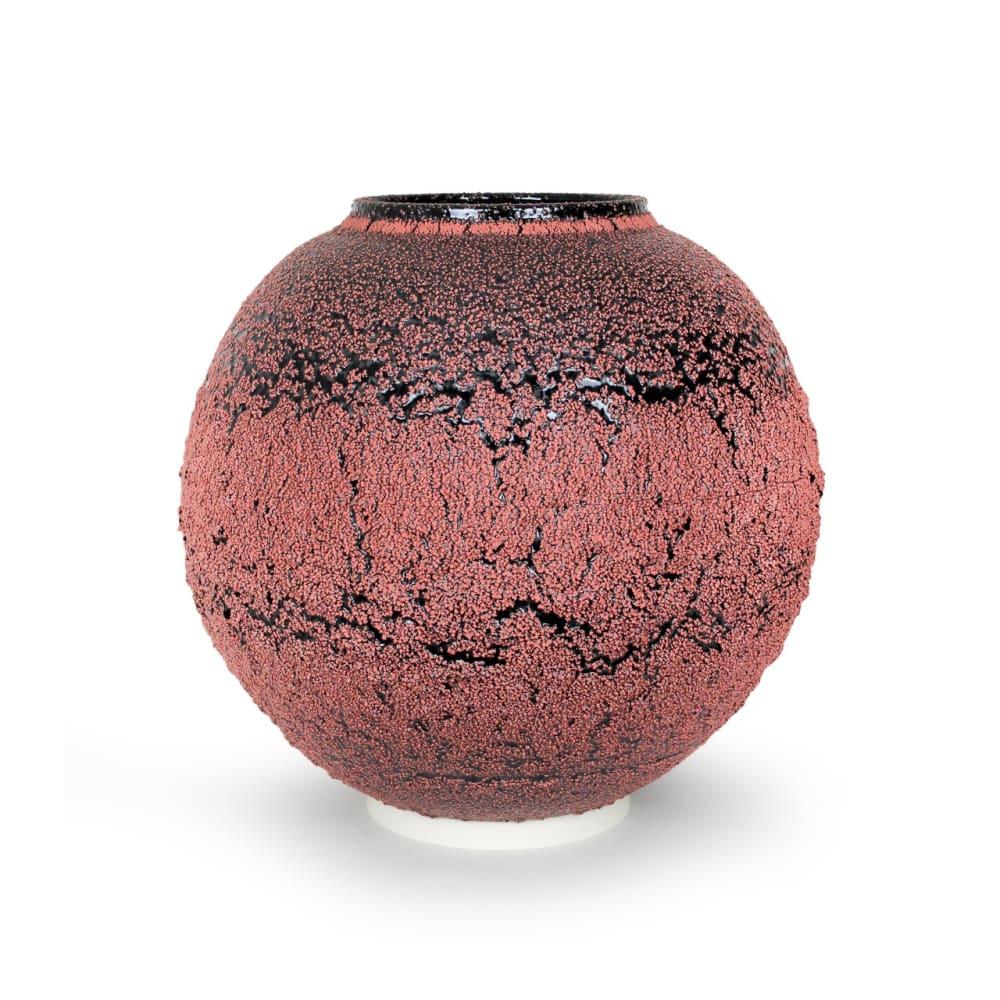 Albert Montserrat  Cadmium Jar, 2020  Glazes on Thrown Porcelain  52 x 54 x 54 cm  20 1/2 x 21 1/4 x 21 1/4 in.