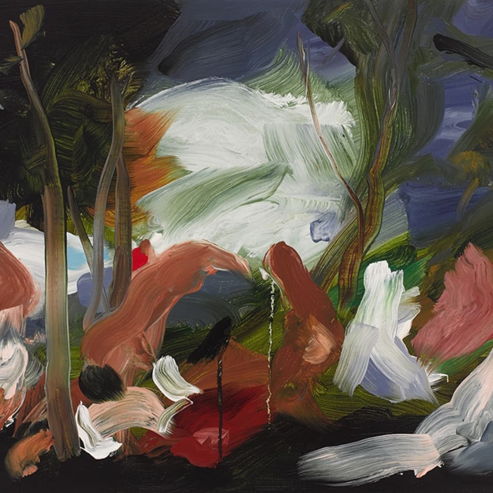 Elise Ansel  Andrians II, 2016  Oil on Linen  53.3 x 61 cm 21 x 24 in.