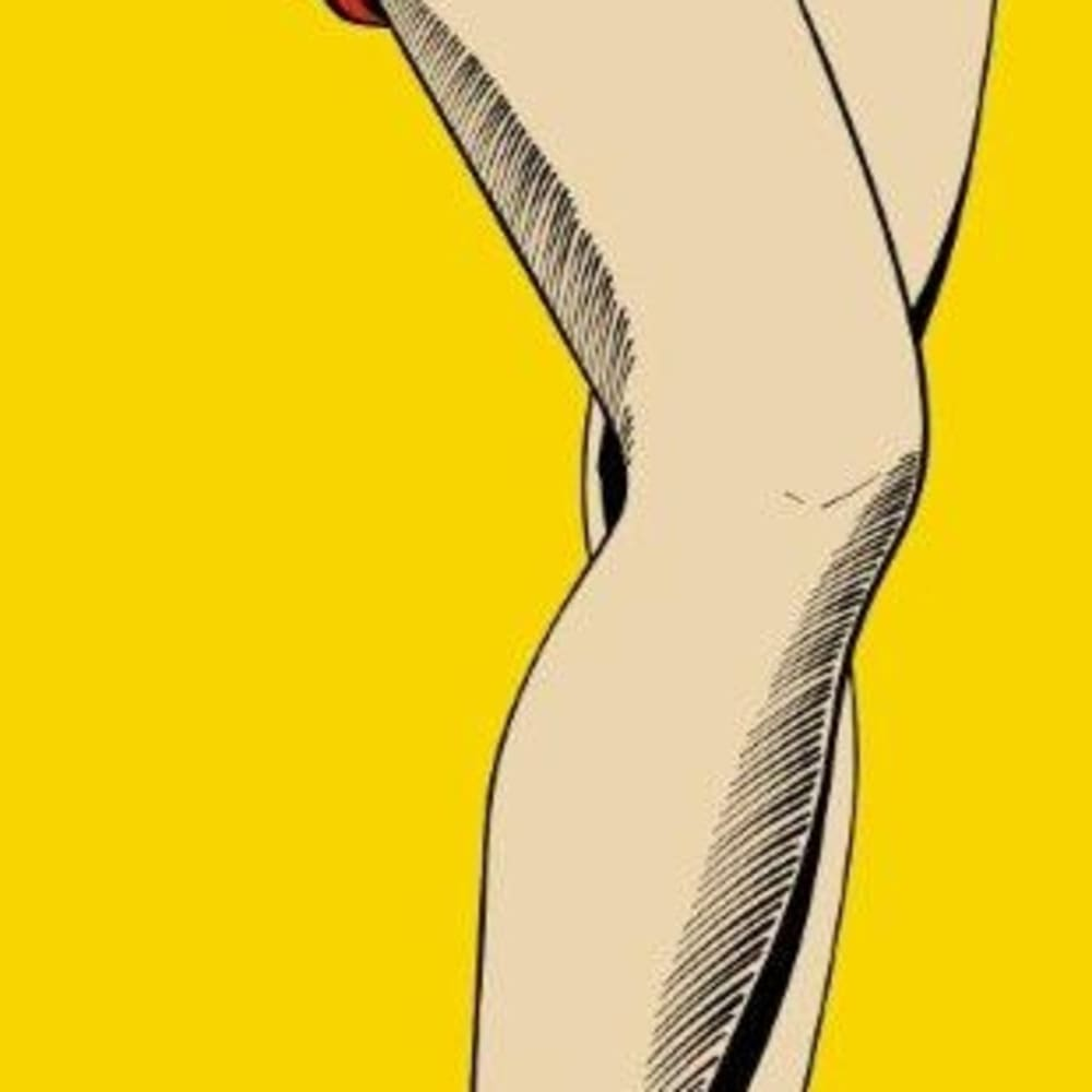 Deborah Azzopardi  Long Legs, 2010  Acrylic on board  194.3 x 82.5 cm 76 1/2 x 32 1/2 in.