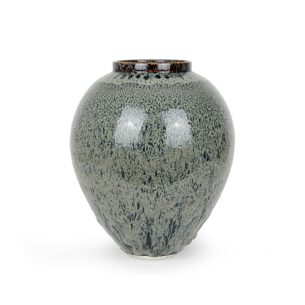 Albert Montserrat  Bear Fur Vessel, 2020  Oil - Spot Glazed Thrown Porcelain  42 x 35 x 35 cm  16 1/2 x 13 3/4 x 13 3/4 in.