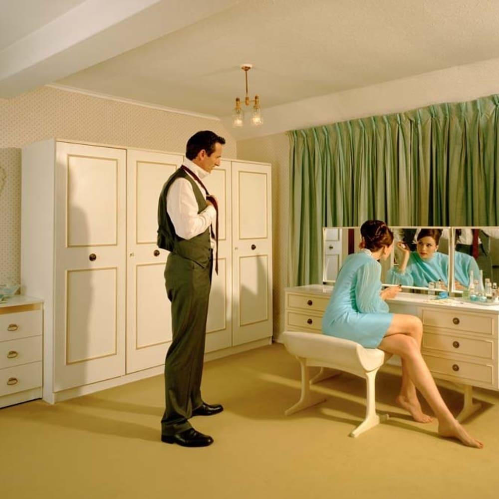 Lottie Davies  The Blue Bedroom, 2008  Lambda print on aluminium in Tray Frame  55.9 x 100.1 cm 22 x 39 3/8 in.  Edition of 10