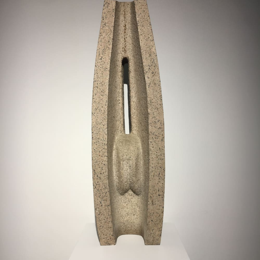 Cheung Yee 張義  Column 坤, 1973  White Granite 白麻石  H: 106.5 cm  D: 25 cm