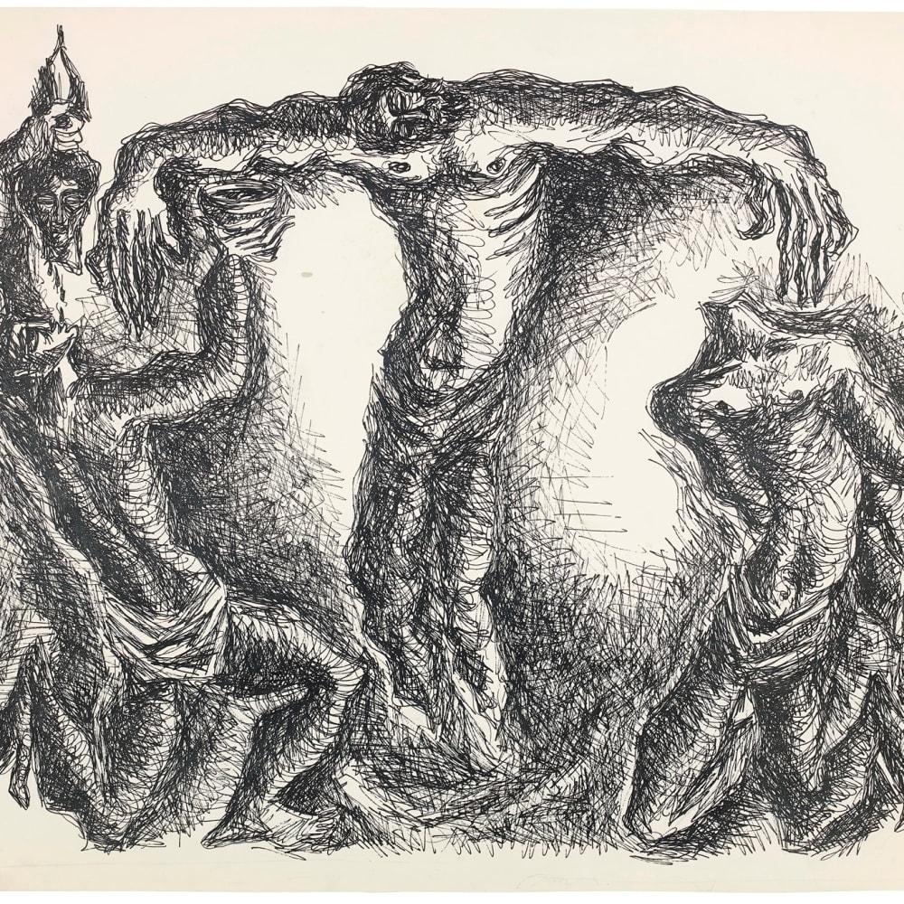Syed Sadequain, After the Crucifixion II, 1966