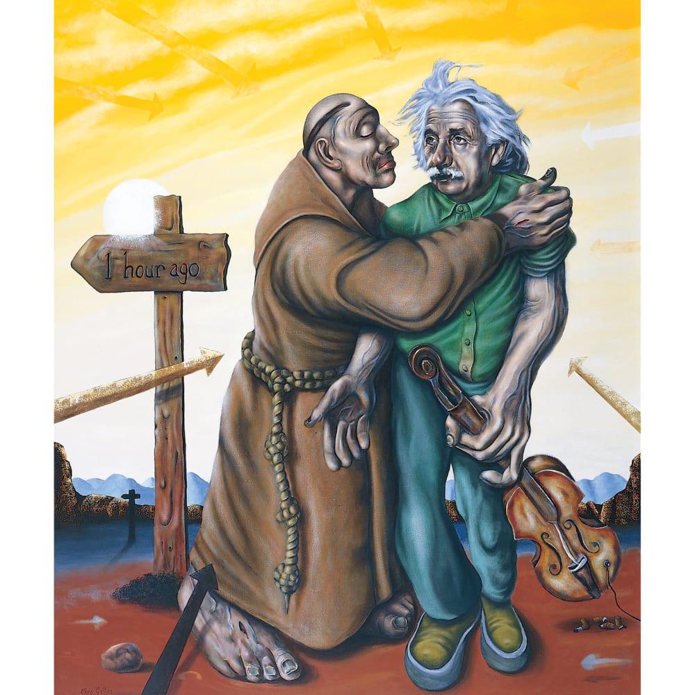 Chris Gollon, Einstein & The Jealous Monk (after Bob Dylan), 2004