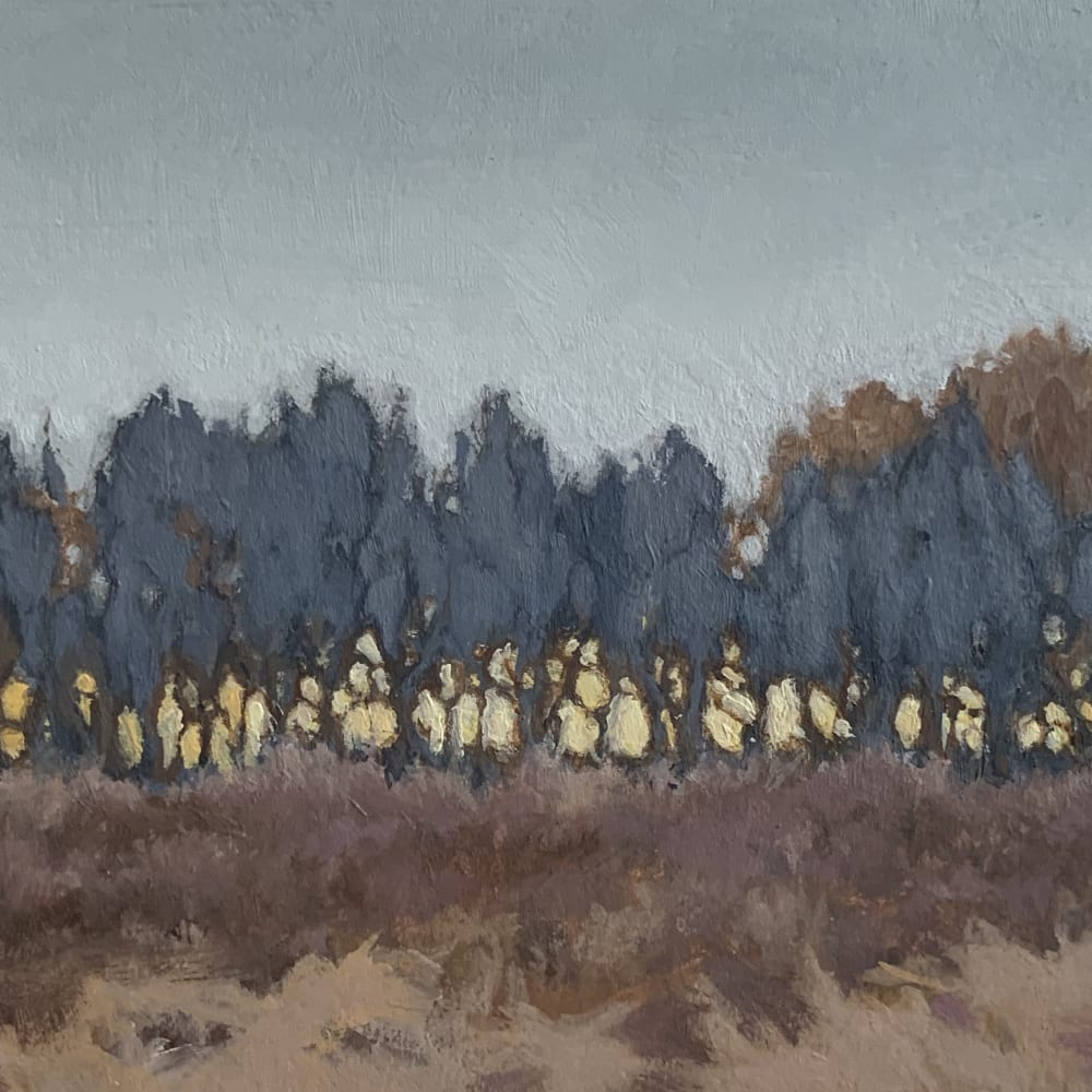 Sally Maca  Almost Dusk 2, 2019  oil on panel  4 x 6 inches