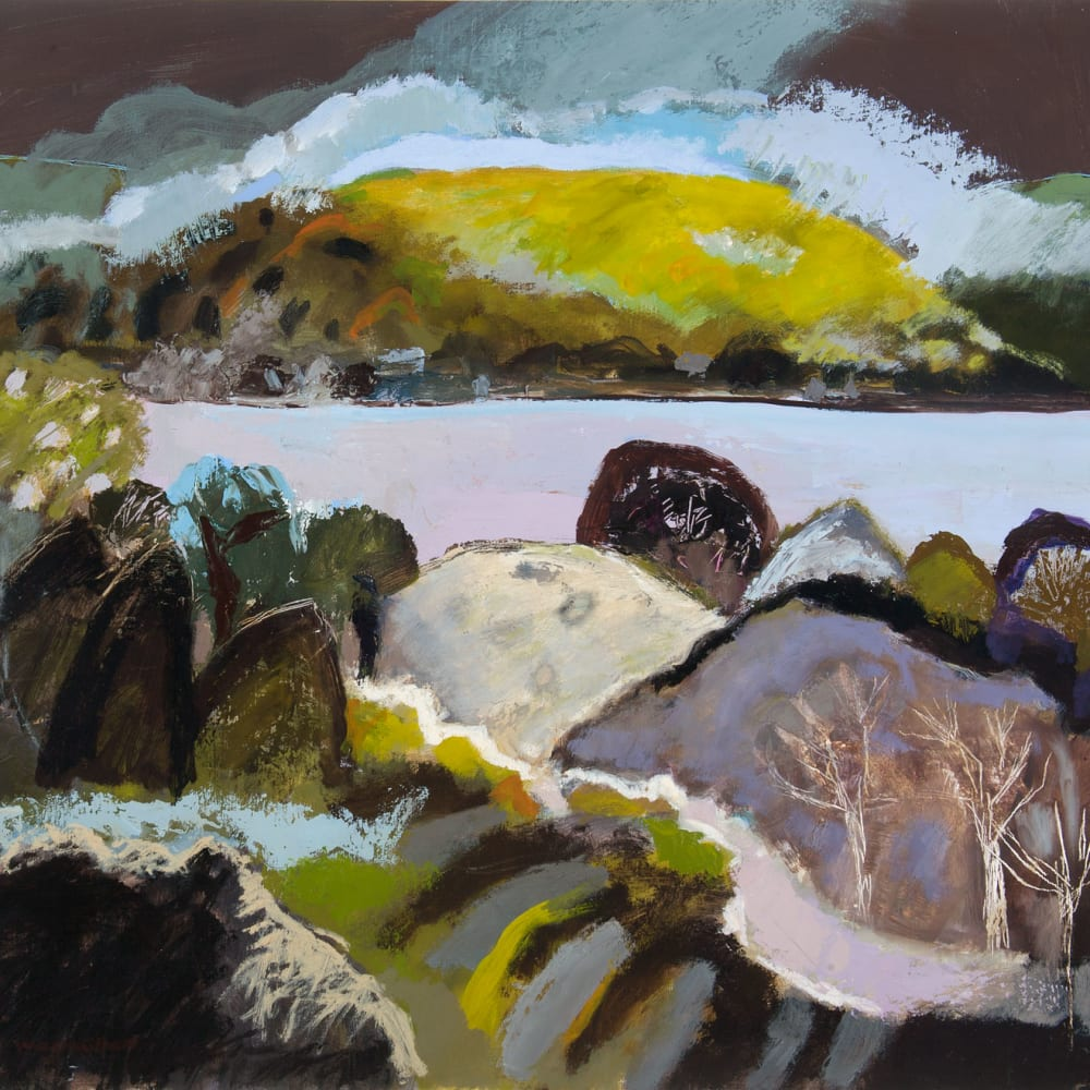 Ann Wegmuller RSW  Argyll Hill  oil  58cm x 66cm