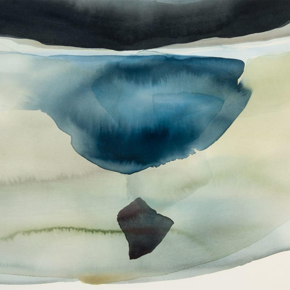 Peter Davis  Sky, loch, rock (Watchhouse), 2018  watercolour on paper  51cm x 70cm