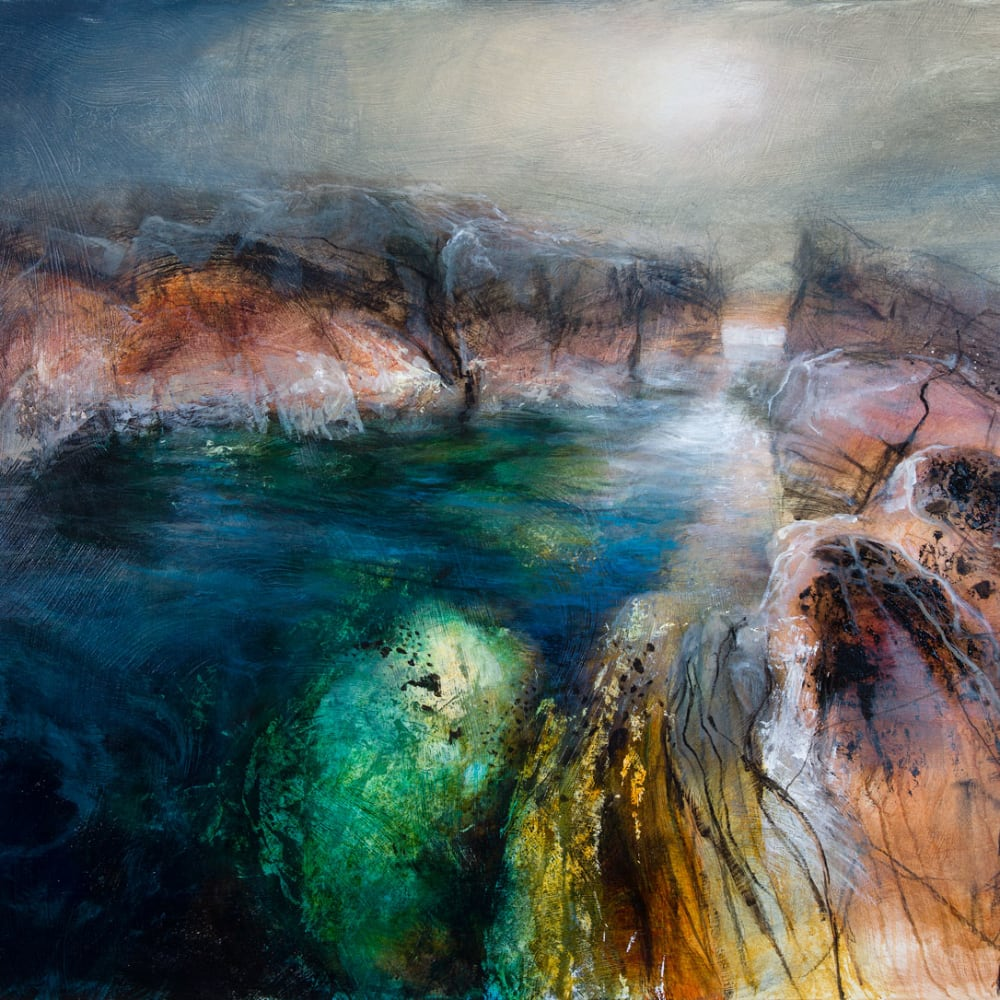 Beth Robertson Fiddes  Coigach Coast  mixed media  92cm x 122cm