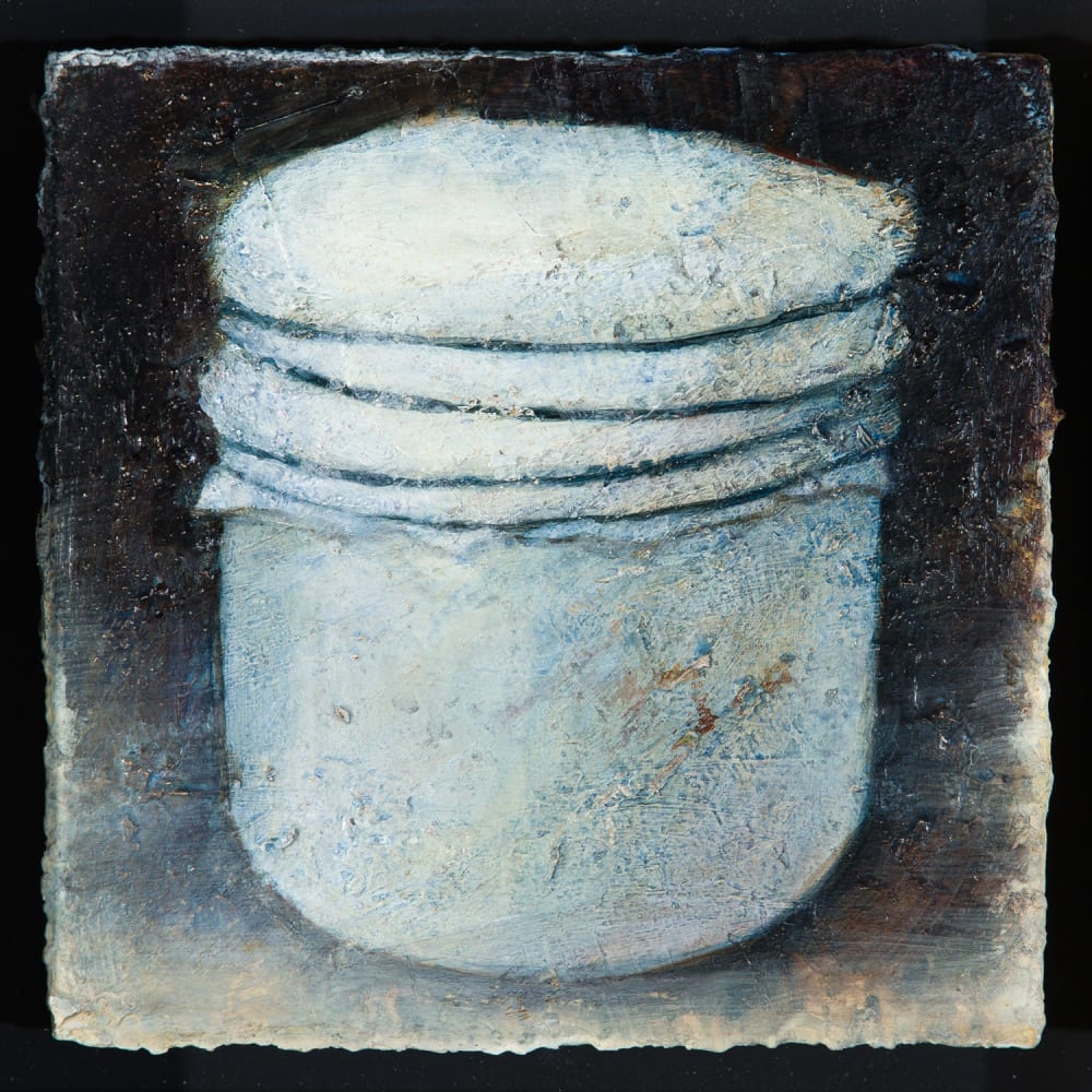 Peter White  Pot, 2020  acrylic and wax  14cm x 14cm