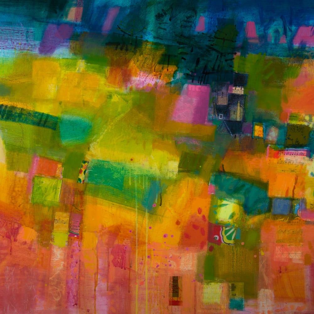 Francis Boag  Nether Swannley  acrylic  80cm x 100cm