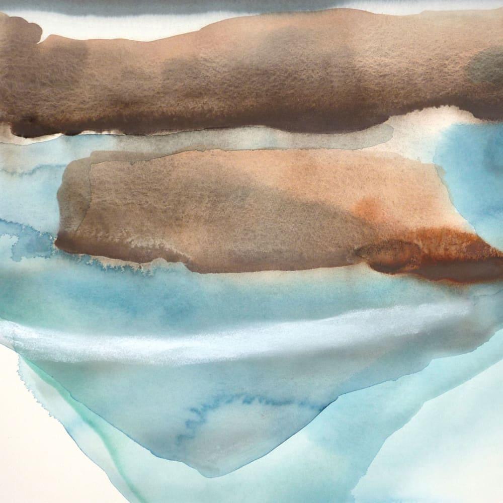 Peter Davis  Grossa Stack  watercolour and chalk rubbing on paper  51cm x 70cm