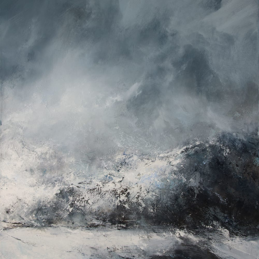 Janette Kerr  Dissolving, Fjortende Julibutka, 2019  oil on canvas  150 x 134 cm  59 1/8 x 52 3/4 in