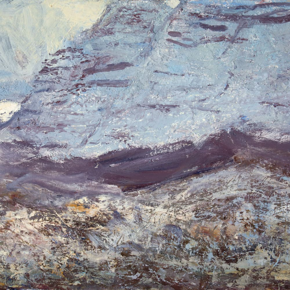 Allan MacDonald  Torridon Massif, 2020  oil on board  76 x 101 cm  29 7/8 x 39 3/4 in