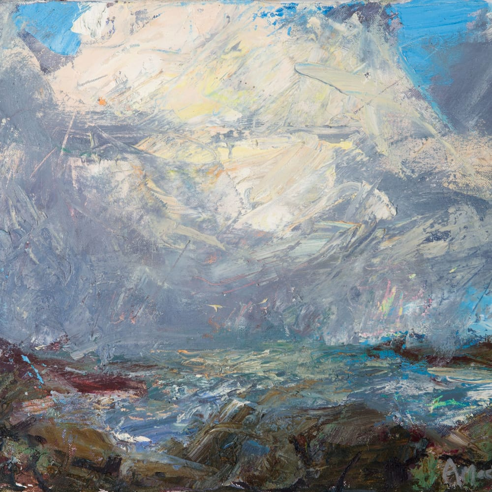 Allan MacDonald  Mangresta squall  oil on canvas  35cm x 46cm