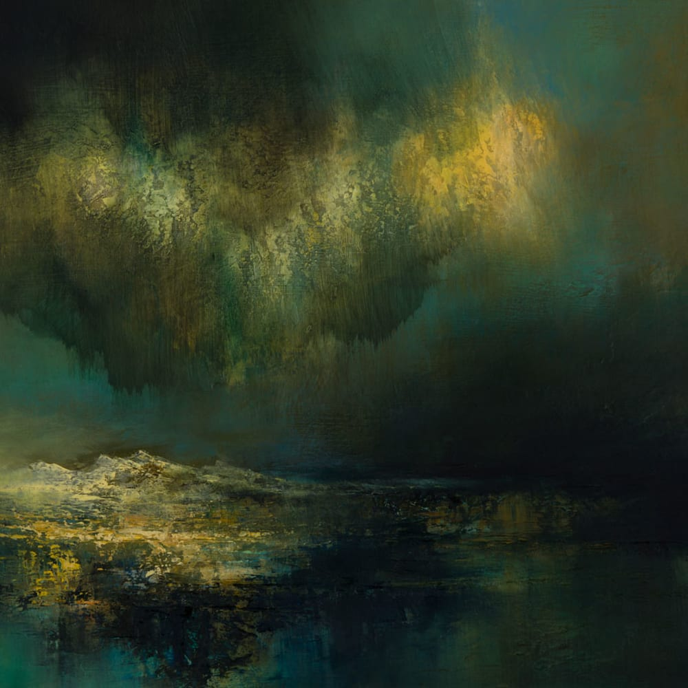 Kirstie Cohen  Darkness Descending  oil on board  41cm x 67cm
