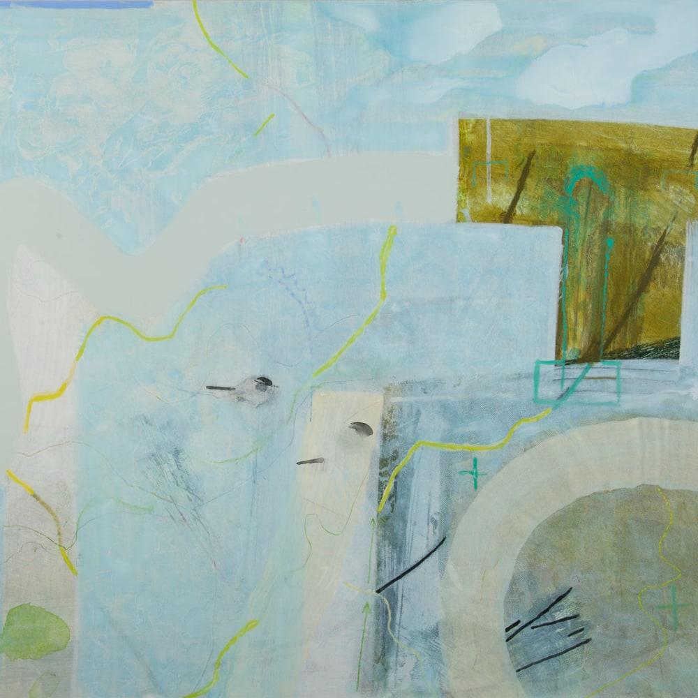 Janet Melrose RSW  Sanctuary  acrylic on gesso panel  87cm x 107cm