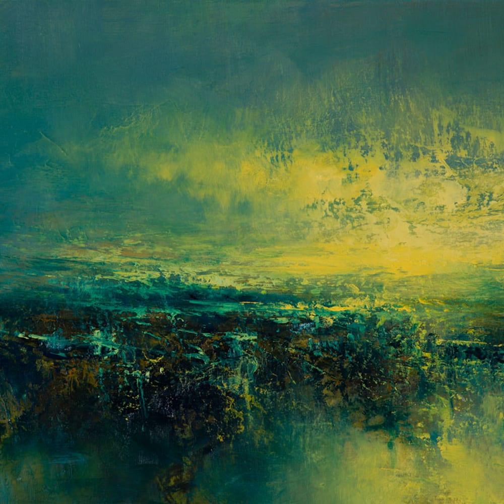 Kirstie Cohen  Yellow Cloud, 2020  oil on board  25cm x 50cm  (29cm x 54.5cm framed)