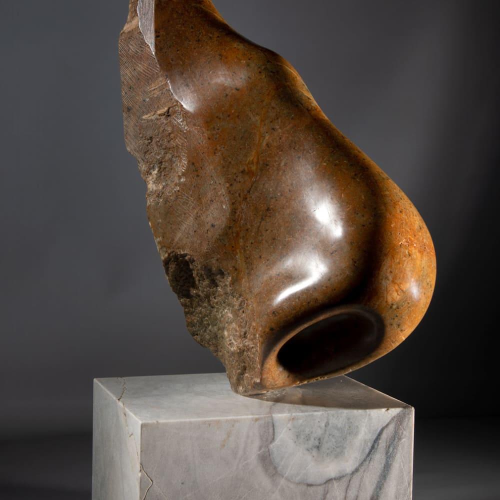 Illona Morrice  Nobody Nose  soap stone and marble  60cm x 20cm x 33cm