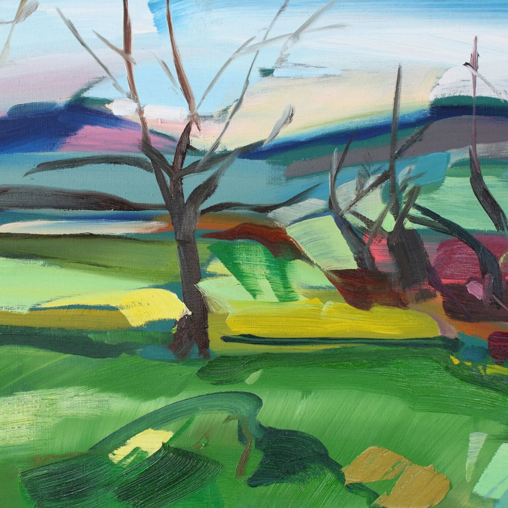 Shona Barr  Winter Green  oil on canvas  50.8 x 66 cm  20 x 26 in