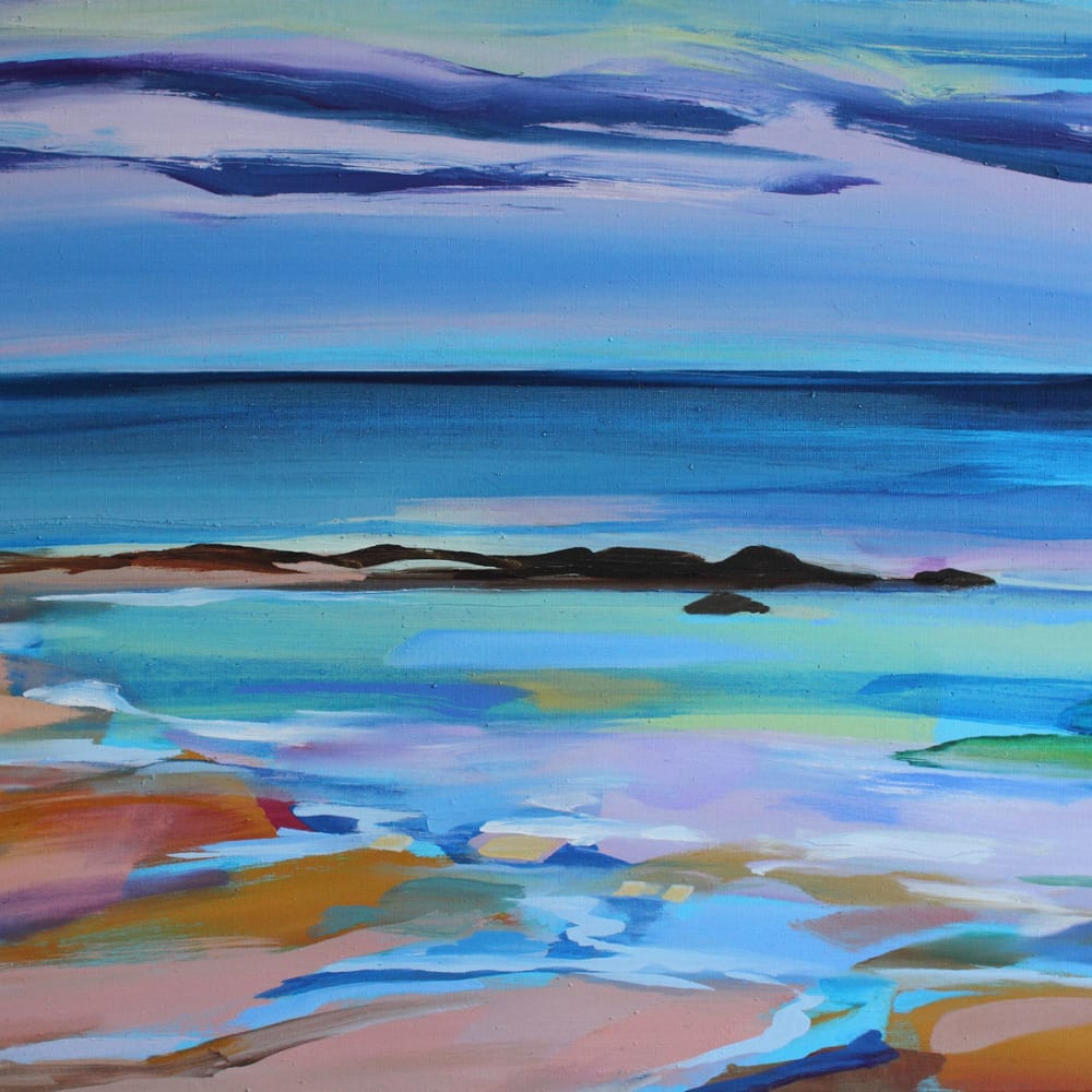 Shona Barr  Summer Beach  oil on canvas  71.1 x 91.4 cm  28 x 36 in