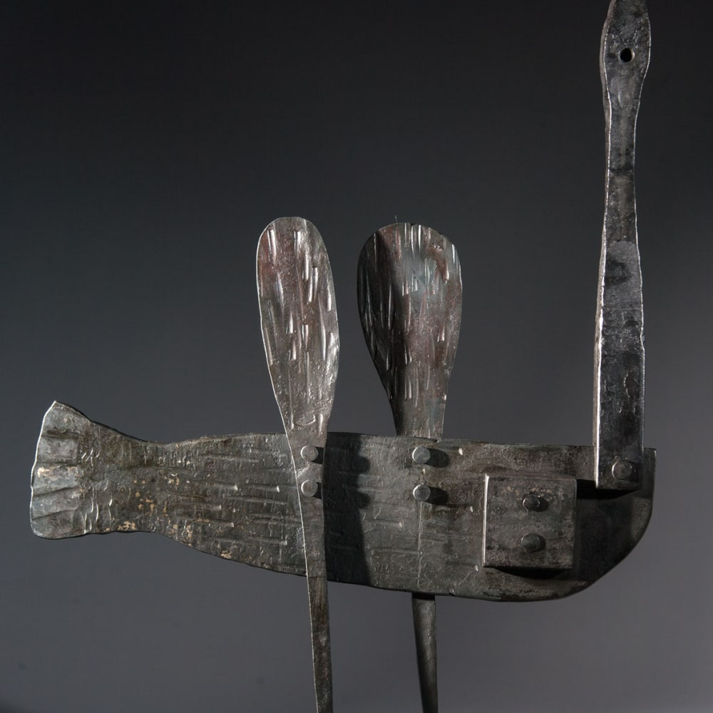 James Newton Adams  Ruffled Feathers  mild-steel  44cm x 34cm x 7.5cm