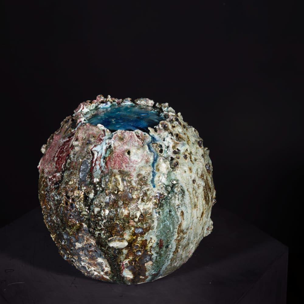 Lotte Glob  Boulder Eye iii, 2020  ceramic  27cm x 25cm x 25cm