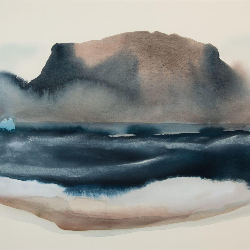 Peter Davis  Snarraness (rough sea), 2017  watercolour with gouache and chalk on paper  51cm x 71cm