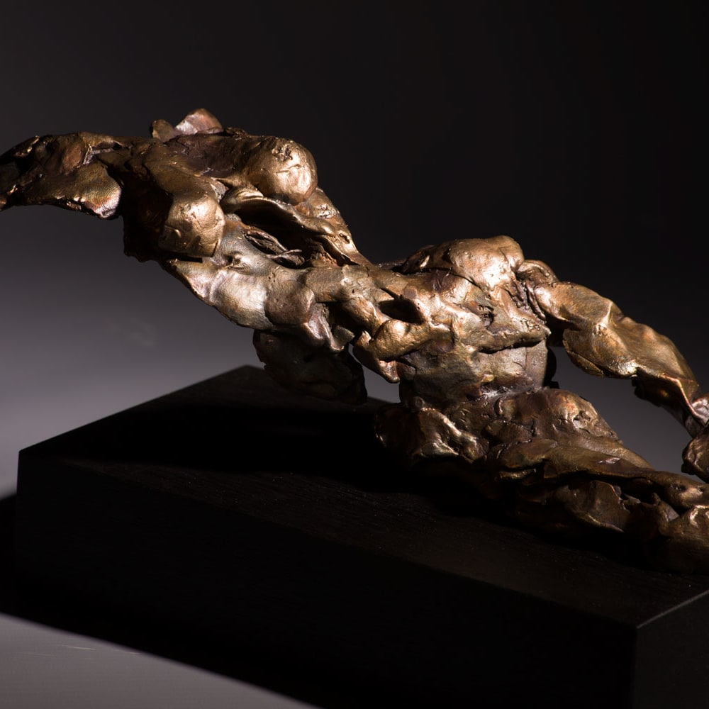 Alan McGowan  Reclining Female - Solar Ember  bronze  14cm (high) x 26cm x 12cm  ed 1 of 25