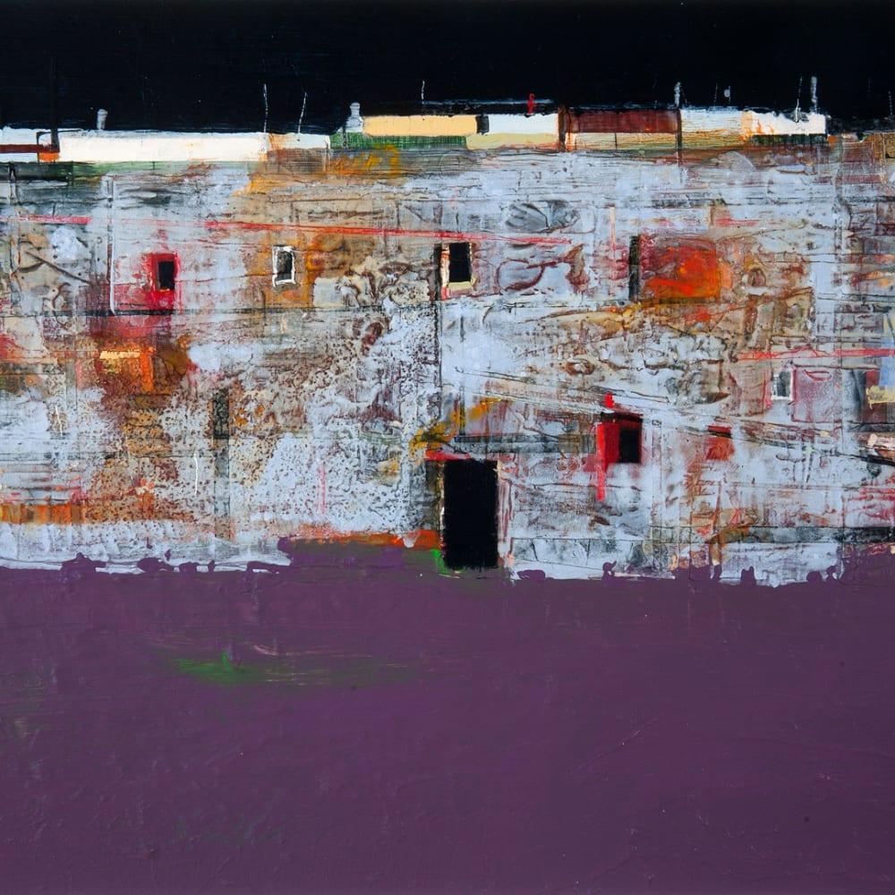 Robert McAulay  Community V  acrylic on gesso panel  26cm x 36cm