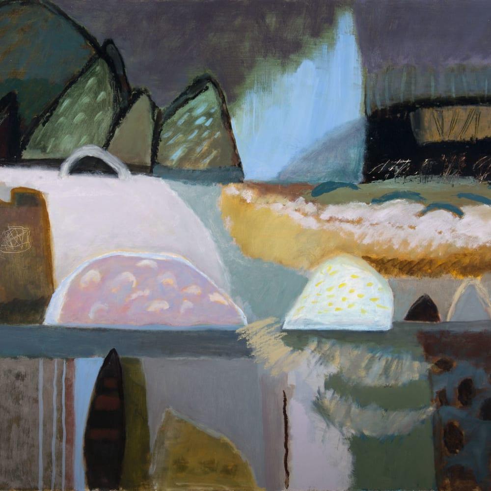 Ann Wegmuller RSW  Incoming Tide  oil  76cm x 107cm