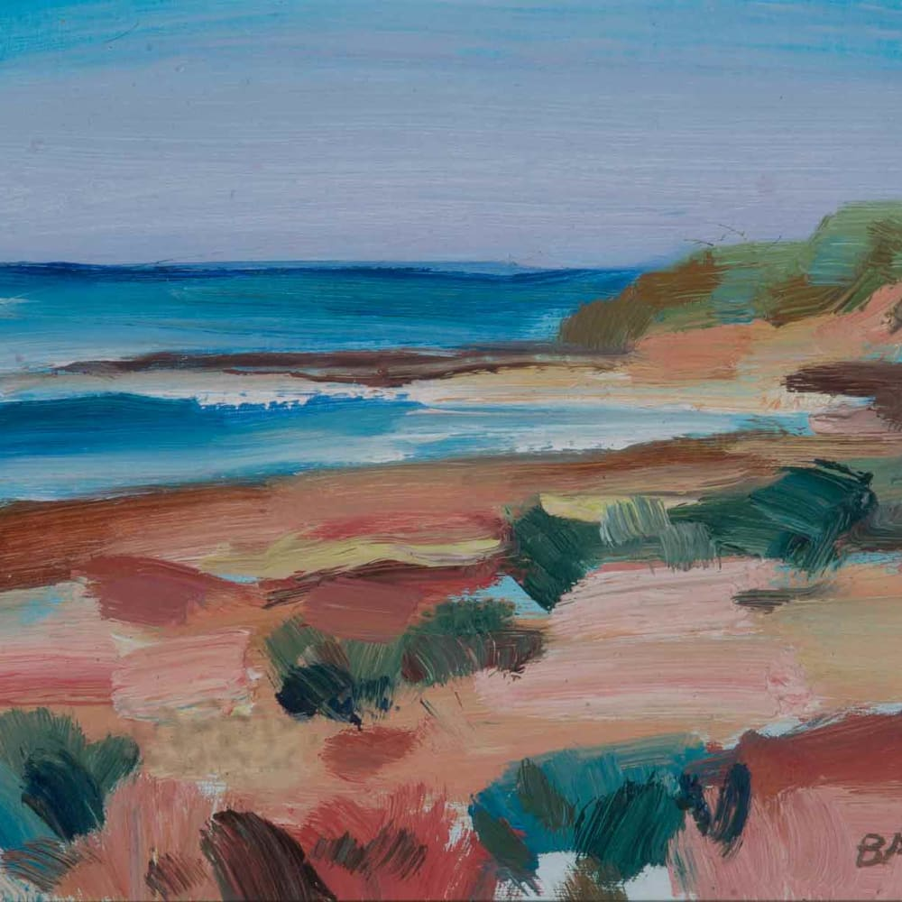 Shona Barr  St Fergus Beach (study ii)  oil on card  20.3 x 21.6 cm  8 x 8 1/2 in