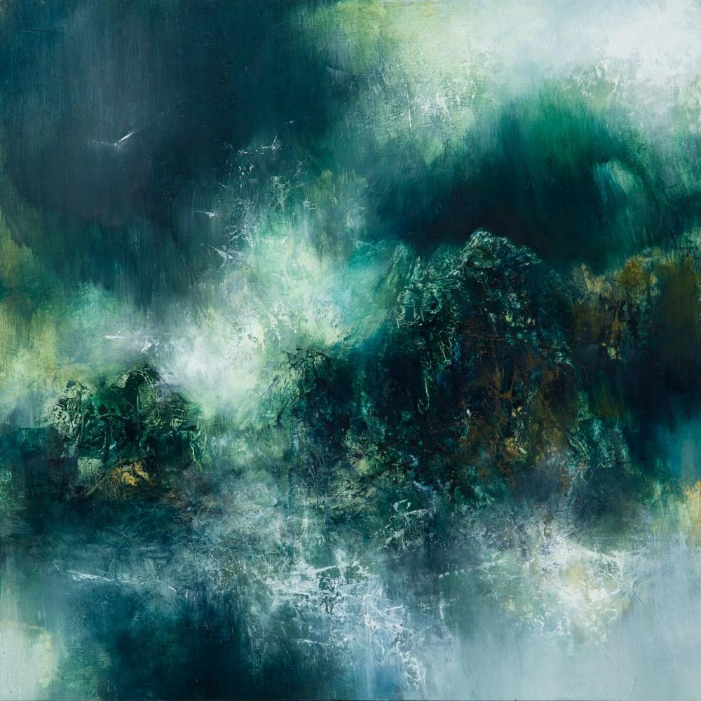 Kirstie Cohen  Dark Mountains, 2020  oil on board  40cm x 40cm