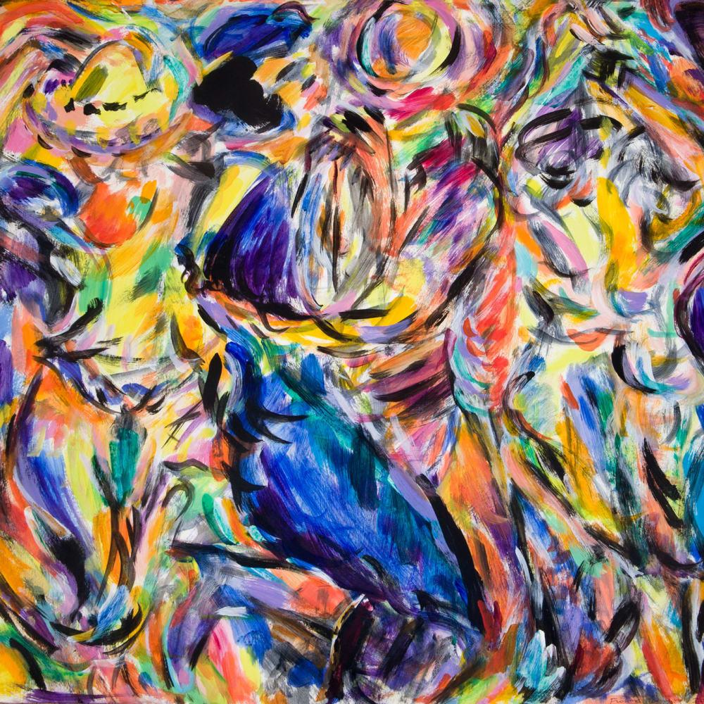 Fionna Carlisle  Caley Salsa  acrylic on paper  58m x 64cm