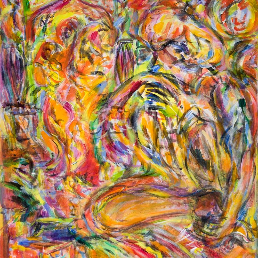 Fionna Carlisle  Shakti ka Rasta, Jaipur  acrylic on paper  57cm x 72cm