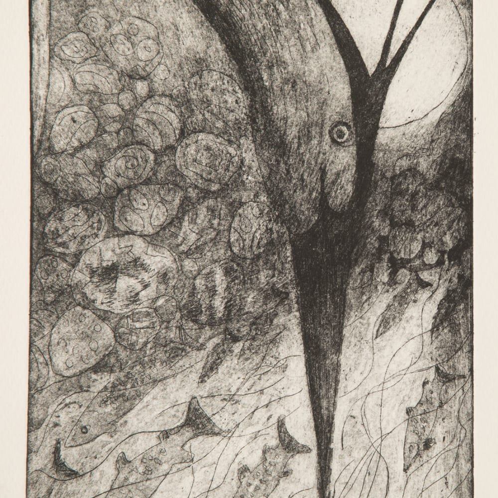 Paul Bloomer  Haegri, 2019  etching  21cm x 15cm  Edition of 50 plus 1 artist's proof
