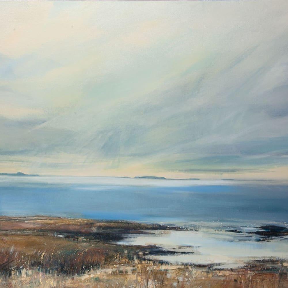 Sarah Carrington, Spring Light over Staffa and the Treshnish Isles