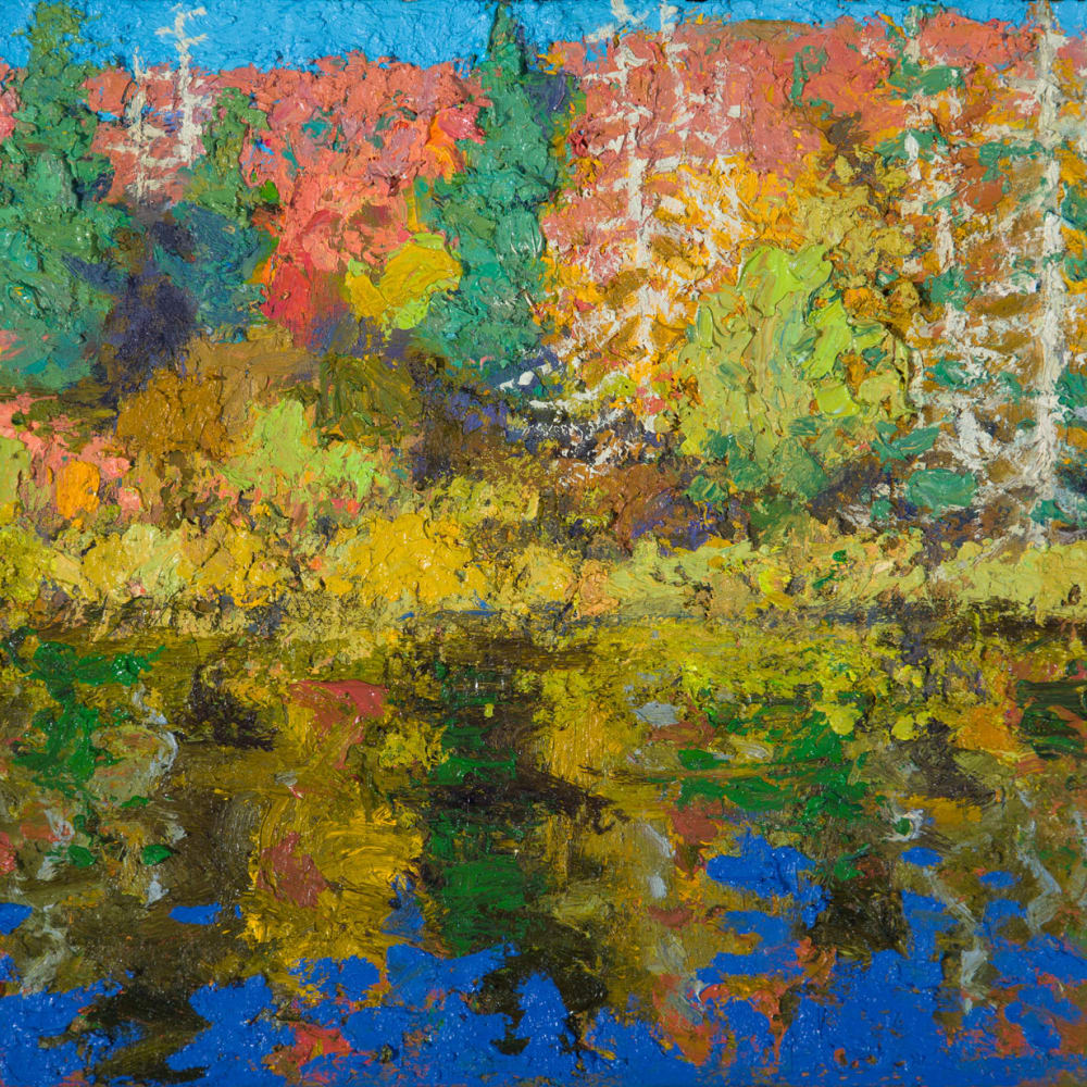 Allan MacDonald  Algonquin i, 2020  oil on board  25 x 30 cm  9 7/8 x 11 3/4 in