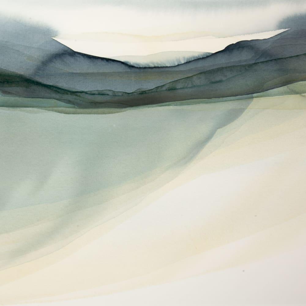 Peter Davis  Weisdale - the end of summer  watercolour chalk rubbing on paper  51cm x 70cm