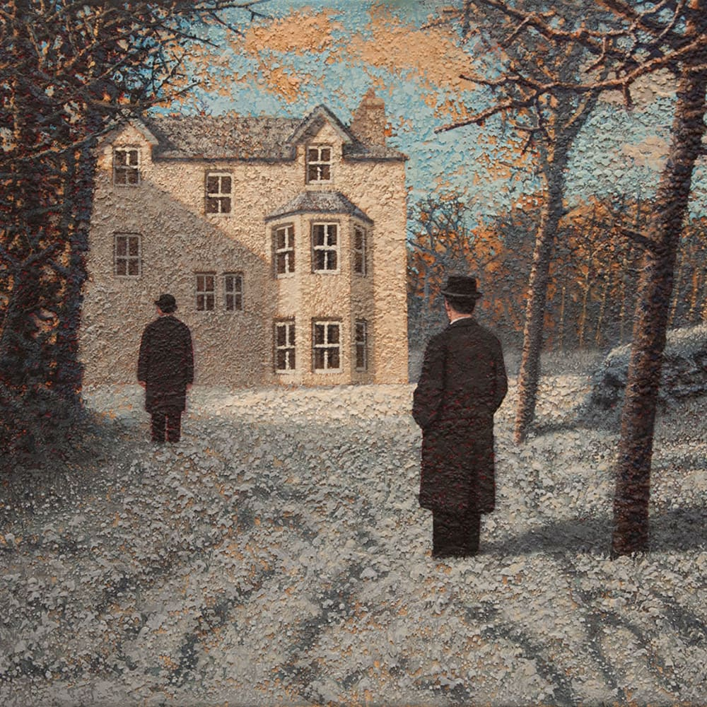 Mark Edwards  Waiting for the Door to Open  acrylic on canvas  50cm x 65cm